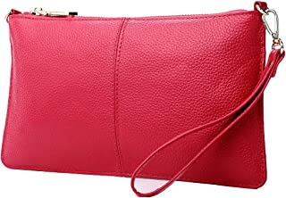 Lecxci Leather Crossbody Purses Clutch Phone Wallets with Card Slots for Women