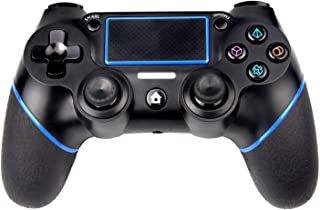 PS4 Controller, Sades C200 Wireless Bluetooth Gamepad DualShock 4 Controller for Playstation 4 Touch Panel Joypad with Dual Vibration Game Remote Control Joystick (Black&Blue)