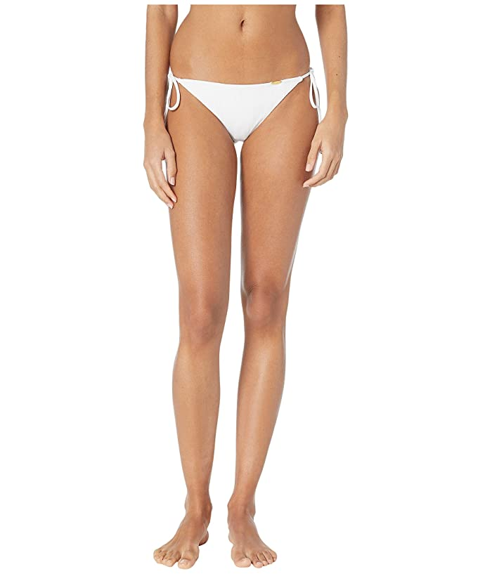 Luli Fama Bachelorette and Her Babes Ruched Back Brazilian Tie Side Bottoms (Bride White) Women
