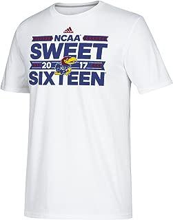 NCAA Kansas Jayhawks 2017 Sweet Sixteen Performance Sleeve Tee, Large, White