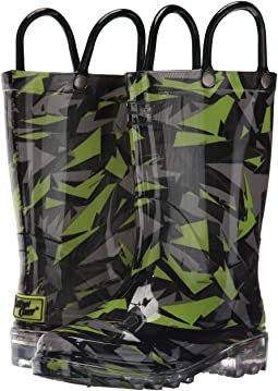 Western Chief Kids - Scatter Camo Lighted PVC (Toddler/Little Kid)