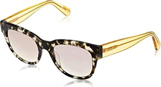 JUST CAVALLI Women's JC759S 55L 52 Sunglasses, Brown (Avana Colorata/Roviex Specchiato)