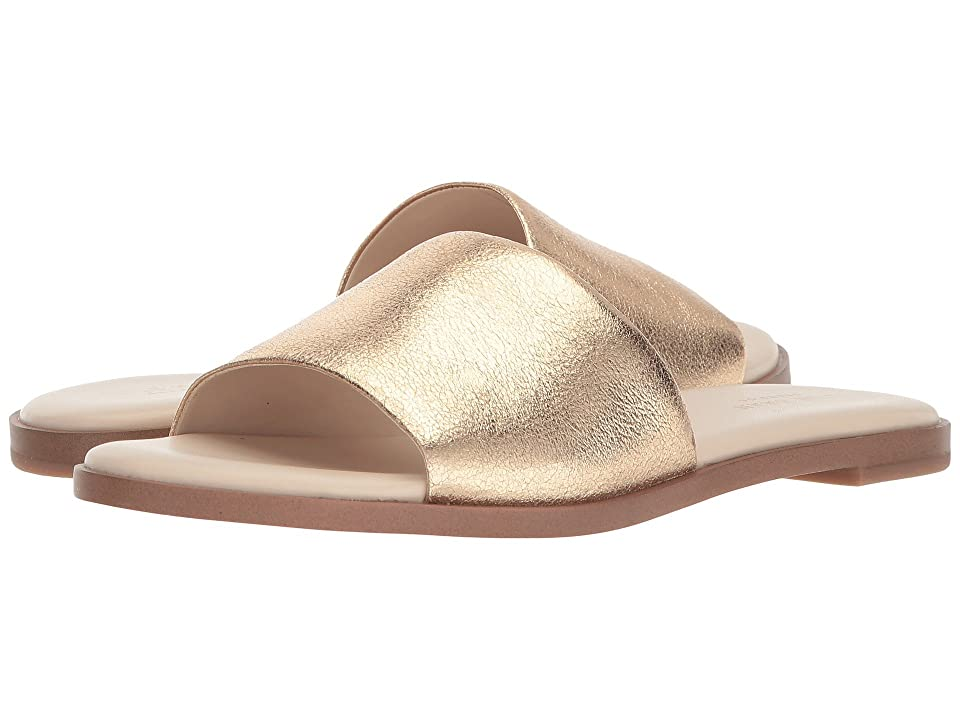 Cole Haan Anica Slide Sandal (Gold Metallic Suede) Women