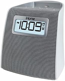 iHome iPL22 Stereo FM Clock Radio with Lightning Dock Charge/Play for iPhone 6/6s 6Plus 7/7Plus 5/5S (Gunmetal)