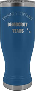 Probably contains Democrat Tears Stainless Steel Insulated 20 Oz. Boho Tumbler With Lid