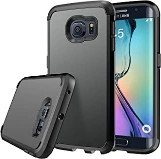 E LV Case for Galaxy S6 Edge case (Shock Proof Defender) Slim Cover Protection for Samsung Galaxy S6 Edge - [Black/Black]