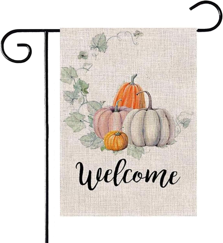 Excellent PINCHUANG Fall Welcome Pumpkin Garden Double Decora Flag Sided - Superlatite