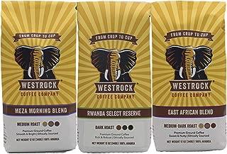 Westrock Coffee Variety Pack Gourmet Ground Coffee 12oz Bags (Pack of 3)