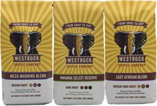 Westrock Coffee Variety Pack Gourmet Ground Coffee 12oz Bags (Pack of 3)