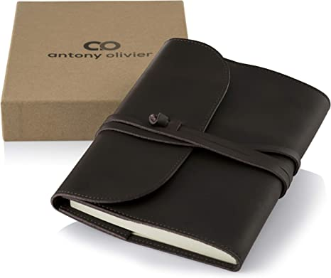 Antony Olivier Real Leather Journal   A5 Writing Notebook and Travel Diary