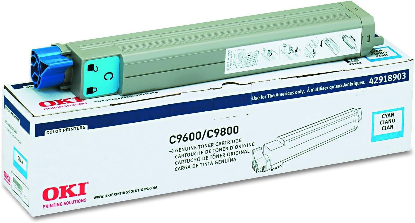 OKIDATA 42918903 Type c7 Toner Cartridge for okidata c9600, c9800, Cyan