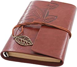 Beyong Leather Journal Diary,Notebook Men Women Gift for Him Her (Red Brown)
