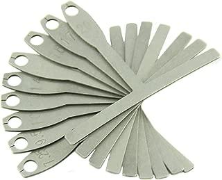 Leadrise® Set of 9 Understring Radius Gauge for Guitar and Bass Setup Luthier Tools for Bridge Saddle Adjustments