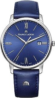 Maurice Lacroix - Reloj Analógico para Hombre de Cuarzo con Correa en Cuero EL1118-SS001-410-1