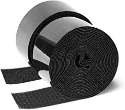 GOHOOK 2 Inch Adhesive Black Hook and Loop Tape - 5 Yards, Heavy Duty Strips/Industrial Strength Sticky Fastener