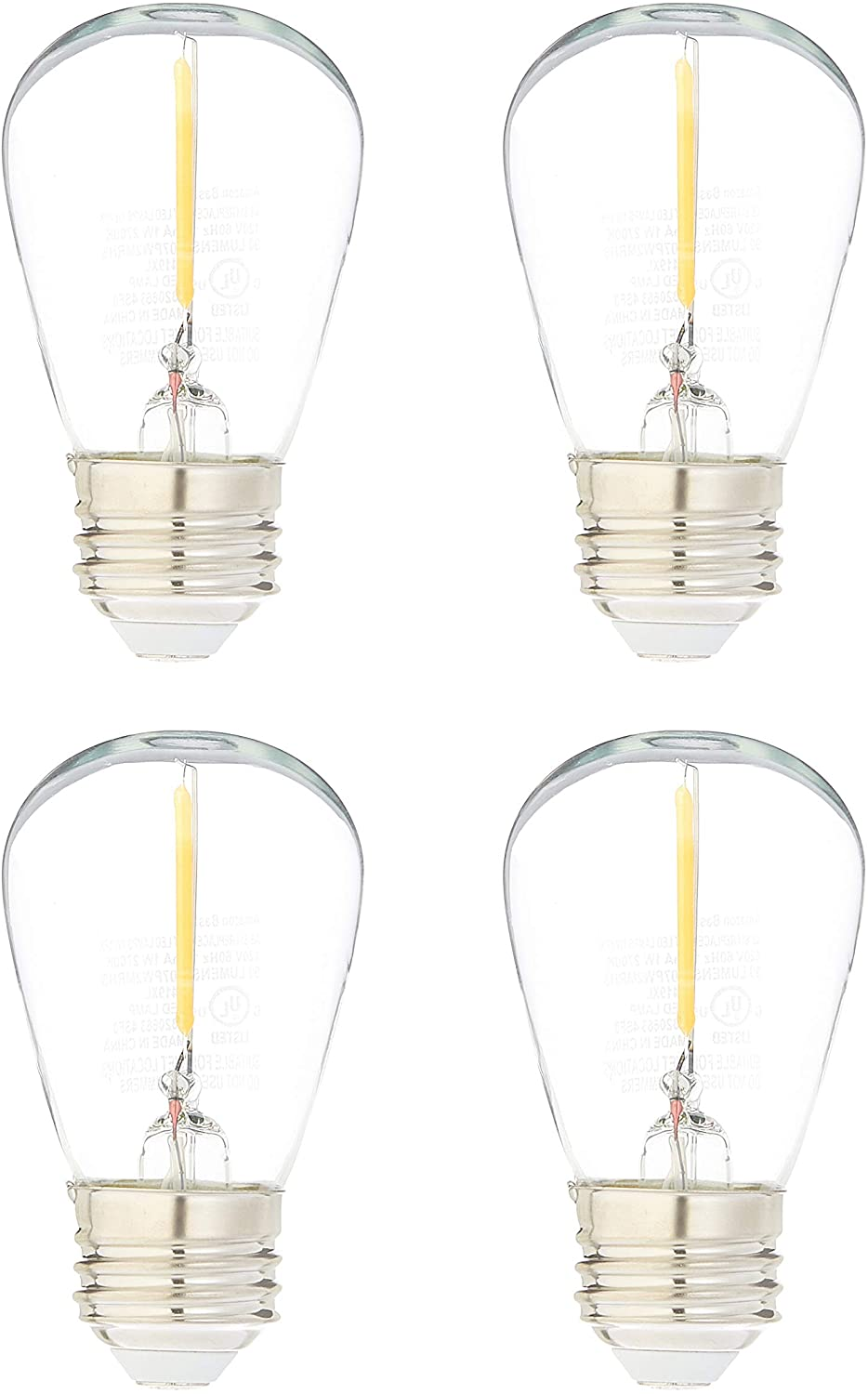 Amazon Basics Replacement LED String Light Edis Bulbs Ranking integrated 1st place Factory outlet S14 Shape