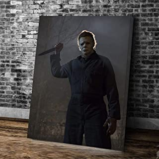 treasure keeper Halloween Michael Myers Canvas Wall Art Painting Prints Poster Framed Size 21