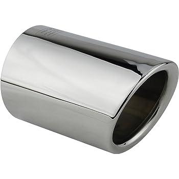 Uscita in marmitta per tubo di scarico a uscita singola modificata in acciaio inossidabile KIMISS in fibra di carbonio 63-114 mm per la maggior parte dei veicoli con tubo di scarico diametro 60 mm
