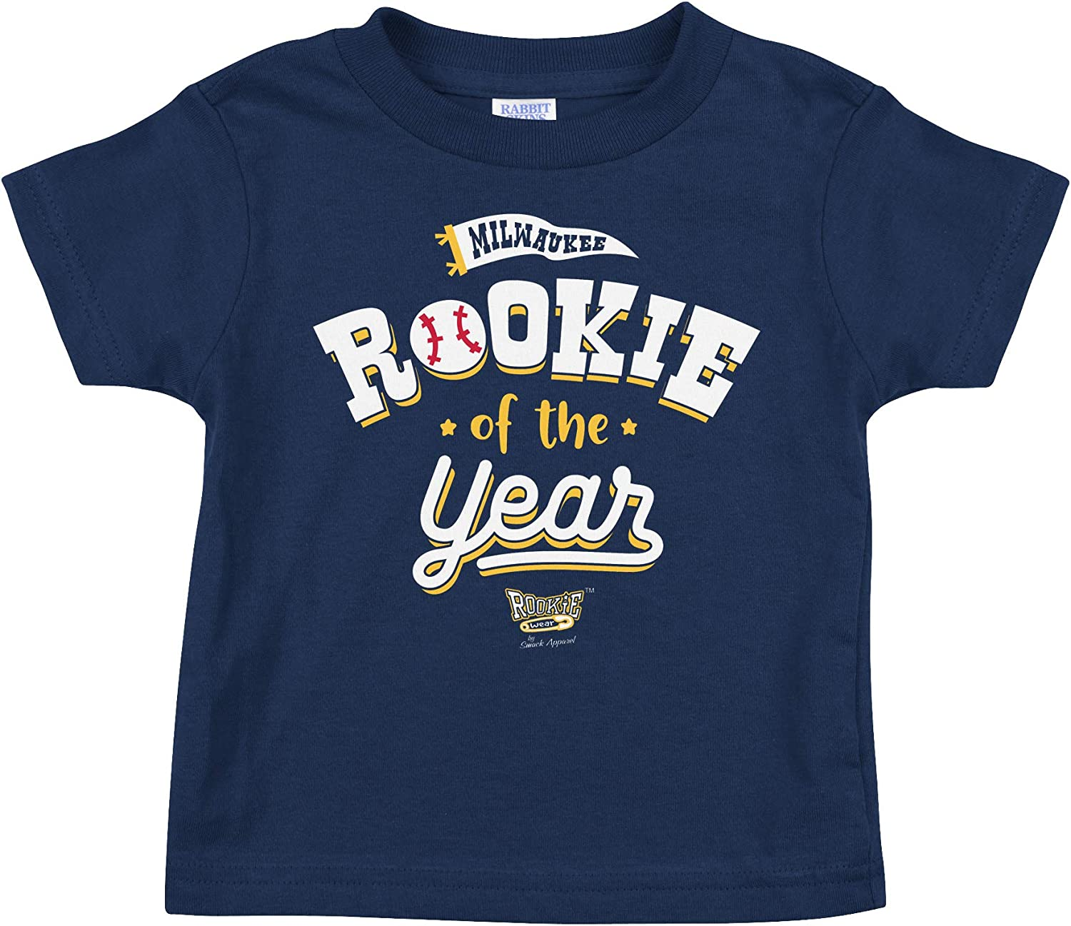 Milwaukee Baseball Fans. Rookie of The Year Navy Onesie or Toddler Tee (NB-7T)