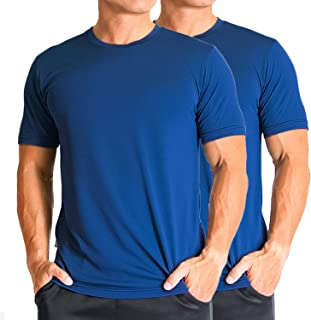 Men's Quick Dry, Odor Control, Moisture Wicking, UV Sun Protection Athletic T-Shirt (M, L, XL)