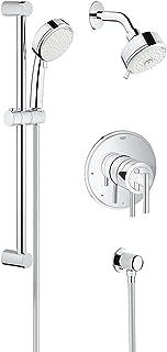 Grohe 35055001 Shower Set Pressure Balance Valve, Starlight Chrome