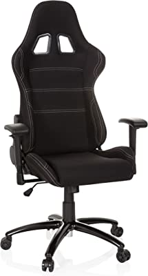 hjh OFFICE 729300 silla gaming GAME FORCE tejido negro silla de oficina reclinable silla escritorio