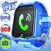 Smart Watch, Smartwatch for kids, Smart Watches Touchscreen with Camera GPS Tracker Digital Watch Phone with SIM Card Slot Two Way Chat Watch Boys Girls Waterproof Activiity Tracking Toys Gifts