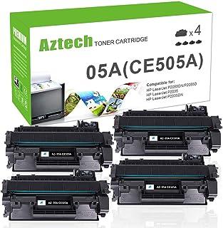 AZTECH Compatible Toner Cartridge Replacement for HP 05A CE505A Laserjet P2035 P2035N P2055DN (Black, 4-Pack)