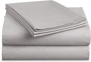 Luxe Bedding Sets - Microfiber California King Sheets Set 4 Piece, Pillow Cases, Deep Pocket Fitted Sheet, Flat Sheet Set Cal King - Silver Light Gray