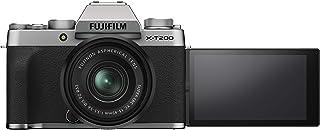 Fujifilm X-T200 Mirrorless Digital Fujifilm X-T200 Mirrorless Digital Camera with 15-45mm Lens, Silver (16647111)