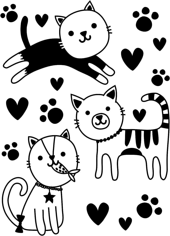 Darice Award-winning store Embossing Folder Cute Kitties 4.25 Arlington Mall I Pawprints x 5.75