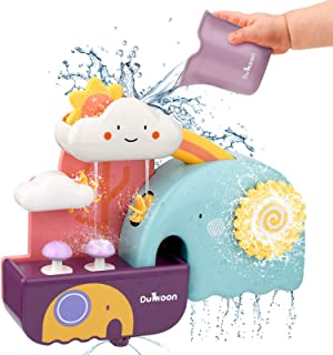 Enllonish Baby Bath Learning Toy, Fun Simple Physics Educational Bathtub Water Toy for 1, 2, 3+ Year Old Boys Girls Toddle...