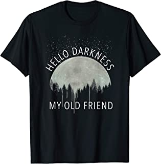Hello Darkness My Old Friend Moon Graphic T-Shirt