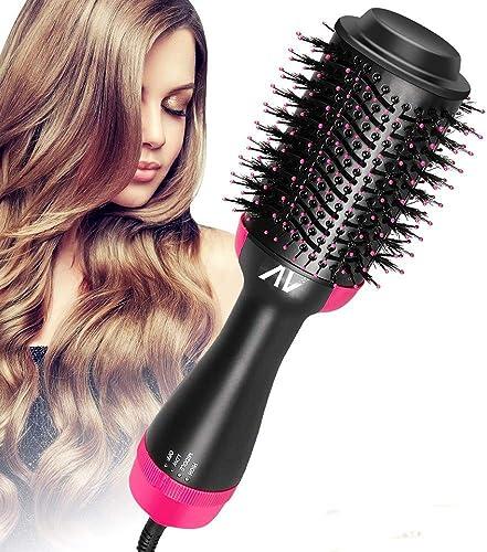 AU Plug Hot Air Brush,One Step Hair Dryer & Volumizer Hair Dryer & Volumizing Styler Comb 3-in-1 Negative Ion Straigh...