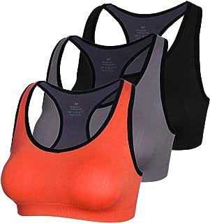 APIKA Fermeture /éclair Avant Soutien-Gorge de Sport Pads Amovibles Fitness Yoga Racer Retour