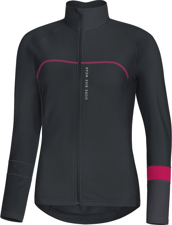 Gore Bike WEAR Women's Thermo Long Sleeve Jersey, Gore Selected Fabrics, POWERLADY Thermo Jersey, Size  40, Black Brown, SLAPOW