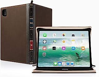 Twelve South ブックブック Vol 2 11インチ iPad Pro (第1世代と第2世代) | ハードカバーレザーケースとイーゼル ペンシル/ドキュメント/キーボードストレージ付き iPad Pro + Apple Pencil用