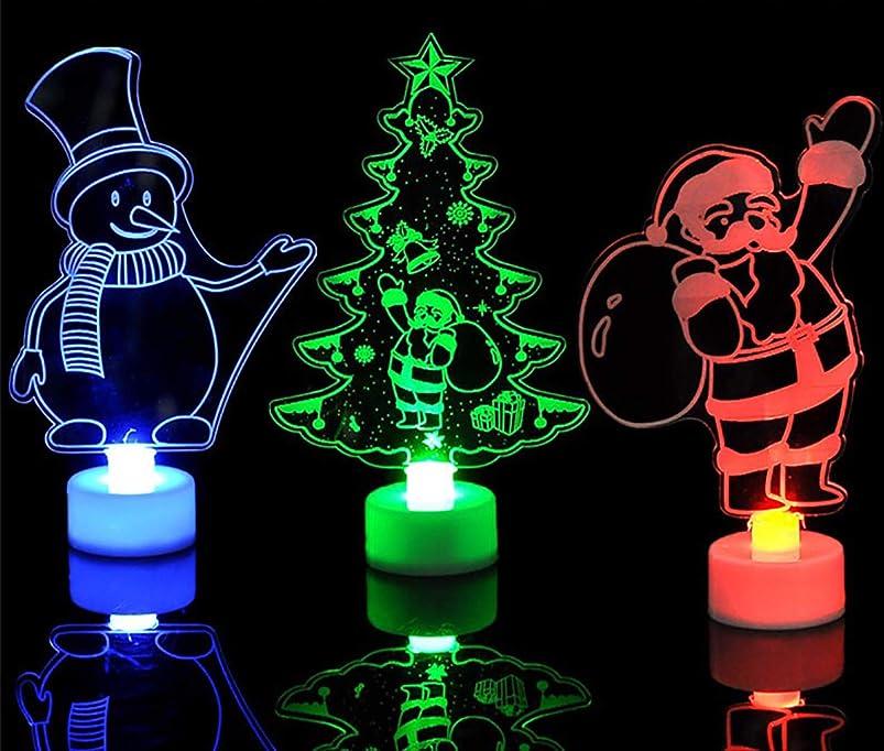 ドアミラーに向かって用心するクリスマス 飾り LEDランタン クリスマスツリー サンタクロース 雪だるま 7色LED自動変化 装飾 クリスマスパーティー バリエーション 3種類選択可 電池付き プレゼント (サンタクロース)