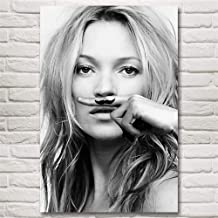 Kate Moss Woman,Wall Art Home Wall Decorations for Bedroom Living Room Oil Paintings Canvas Prints-304 (Framed,12x18inch)