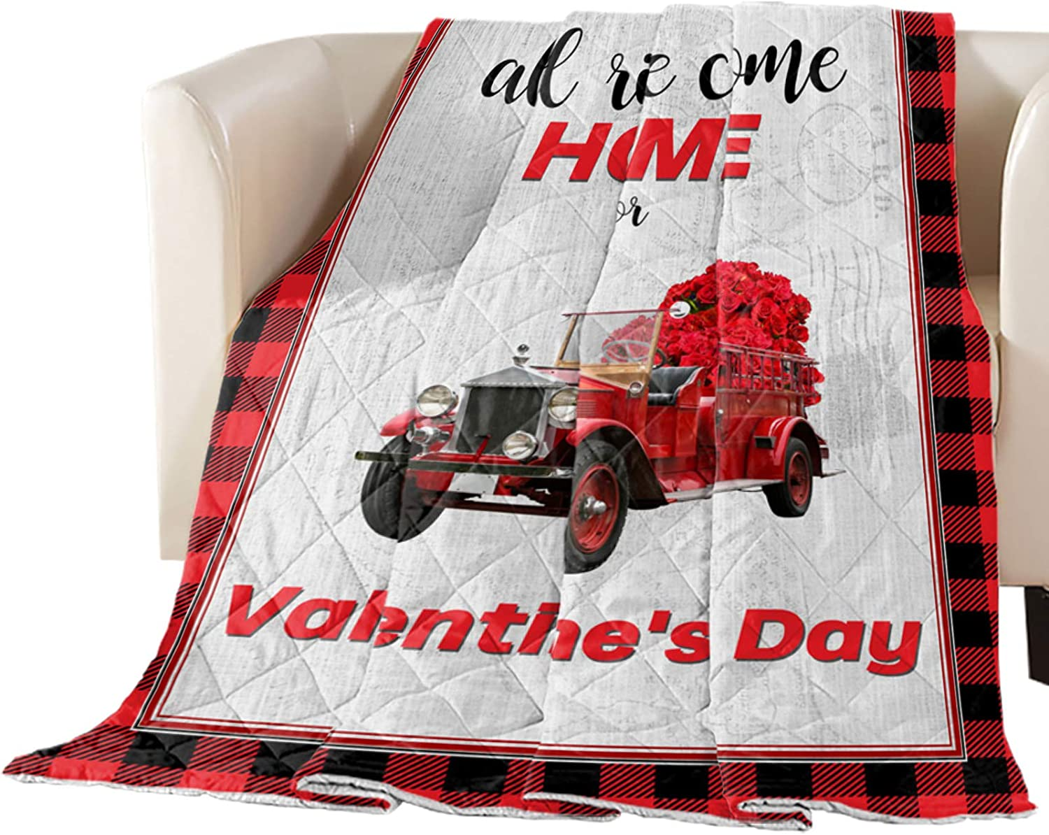 Comforter Duvet Insert Dallas Mall Home Selling rankings Quilt- Day Red Truck wit Valentine's