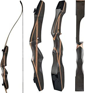 Image of OEELINE Airobow Takedown Archery Recurve Bow 62' Hunting Bow Right and Left Hand Draw Weights in 25-55 lbs Beginner to Intermediate