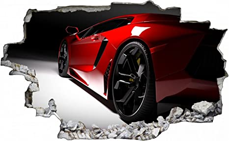 Auto Sportwagen Car Wandtattoo Wandsticker Wandaufkleber C0416 Grosse 100 Cm X 150 Cm Amazon De Kuche Haushalt