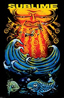 Pyramid America Sublime Sun and Fish Music Cool Wall Decor Art Print Poster 24x36