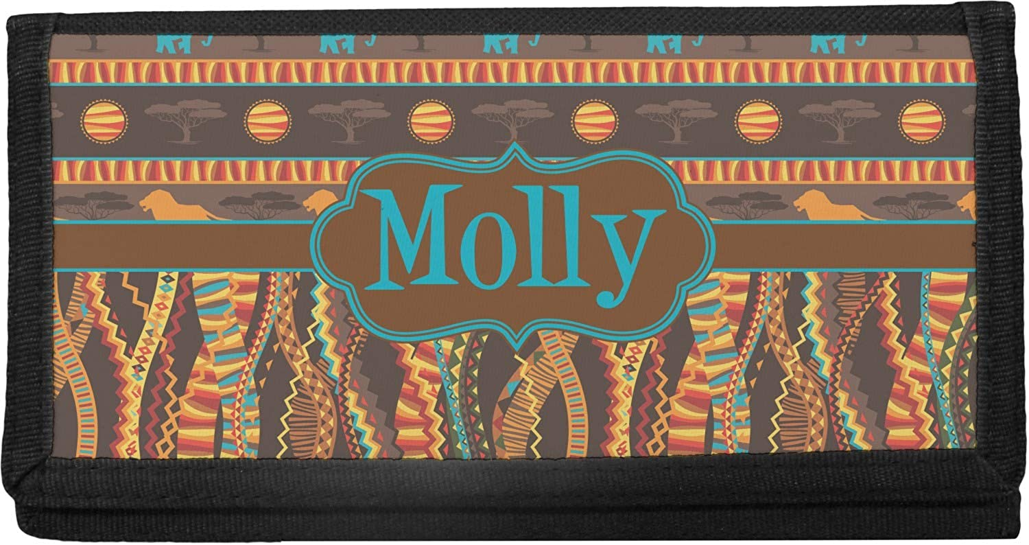 African Lions Elephants Online limited product Canvas Personalized Cover Max 85% OFF Checkbook