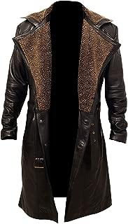 Blade Runner 2049 Officer K Ryan Gosling Lapel Fur Collar Trench Long Leather Coat