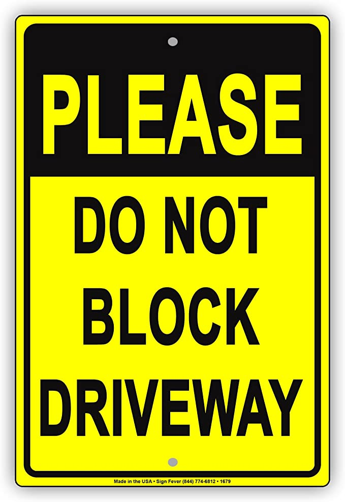 PRIVATE DRIVE SIGN METAL PARKING Driveway Reserved Please Keep Clear No Access