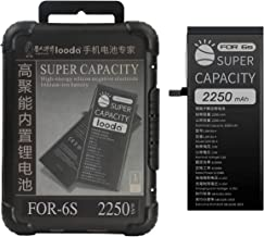 2250 mAh Replacement Battery Compatible for iPhone 6S,Super Capacity Power UP Li-ion Battery with Repair Tool Kits Box[24 Months Warranty]