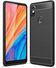 Xiaomi Mi Mix 2S case, Carbon Fiber Design Flexible Soft TPU Case Highstrength Shockproof Protective Back Cover to Protect the Mobile Phone for Xiaomi Mi Mix 2S, Black