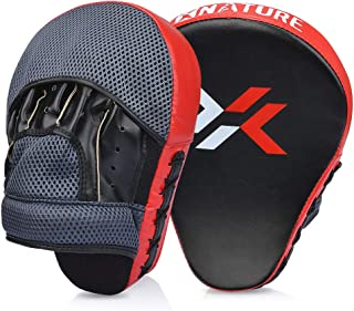 Xnature Essential Curved Boxing MMA Punching Mitts Boxing Pads w/Gift Box Hook & Jab Pads MMA Target Focus Punching Mitts Thai Strike Kick Shield for X'Mas Gift