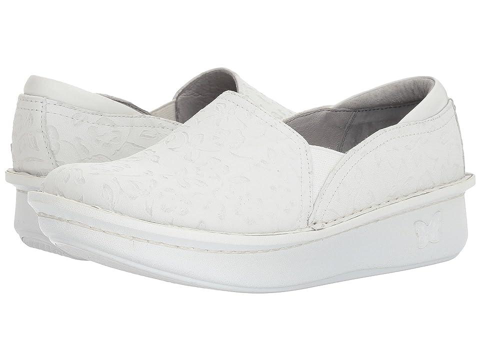 Image of Alegria Debra Professional (Morning Glory White) Women's Slip on Shoes